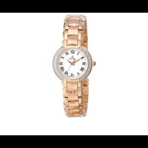 Bulova fairlawn gold plated pearl crystal watch